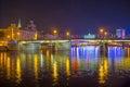 The evening Moscow bridges
