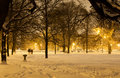 Evening park stroll a pleasant through palmer square in chicago Stock Image