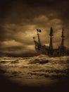 Vintage Pirate Seas Royalty Free Stock Photo