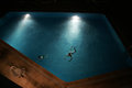 Evening pool Royalty Free Stock Photo