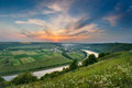 Evening on the river dniester ukraine Stock Images