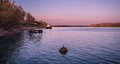 Evening on the river a quiet Royalty Free Stock Photo