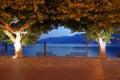 Evening scene ascona switzerland ticino canton small exclusive resort lake maggiore Stock Photography
