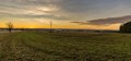 Evening scene of autumn field after sunset Royalty Free Stock Photo