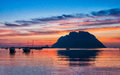 Evening scene with Tavolara Island,Sardinia, Italy Royalty Free Stock Photo