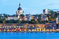 Evening scenery of stockholm sweden summer the old town gamla stan in Stock Image