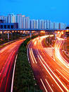 Evening Shot of Expressway Stock Photography