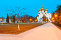Evening shot of an orthodox church in yaroslavl Royalty Free Stock Image