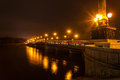 Evening shot of promenade in donetsk on the river kalmius ukraine Stock Photo