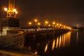 Evening shot of promenade in donetsk on the river kalmius ukraine Stock Photos
