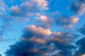 Evening sky cloudy in the sun Royalty Free Stock Image