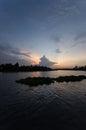 Evening sky at tha chin river maenam tha chin nakhon pathom thailand is a distributary of the chao phraya Royalty Free Stock Image