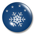 Evening Snow Button Orb Royalty Free Stock Photo
