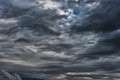 Evening Stormy Cloudy Blue Gray Sky. Use it As a Background