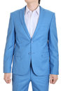 Evening suit blue turquoise suits for men dress sky Stock Photos