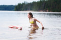Evening swim Royalty Free Stock Photo