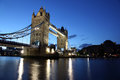 Evening Tower Bridge, London Royalty Free Stock Photo