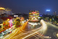 Evening traffic in Hanoi Royalty Free Stock Photo