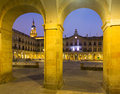 Evening view of berria square new square from arches vitoria gasteiz spain Royalty Free Stock Photography