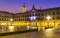 Evening view of berria square new square and city hall vitoria gasteiz spain Royalty Free Stock Photography