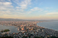 Evening view of the city of Hakodate. Royalty Free Stock Photos