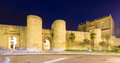 Evening view of  citywall. Ronda Royalty Free Stock Photo