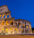 Evening view of colosseo in rome italy Stock Photo