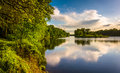 Evening view of the Delaware River at Delaware Water Gap Nationa Royalty Free Stock Photo
