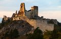 Evening view of ruins Cachticky hrad - Slovakia