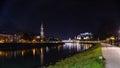 Evening view of Salzburg Royalty Free Stock Photo
