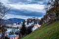 Evening view of Salzburg Royalty Free Stock Photo