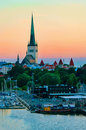 Evening view of tallinn estonia scenic summer white night Stock Photography