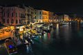 Evening View of Venice from the Rialto Bridge Royalty Free Stock Photo