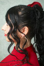 Evening woman coiffure Stock Image