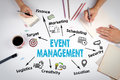 Event management Concept. The meeting at the white office table Royalty Free Stock Photo