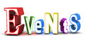 Event management events word related to concept white background Royalty Free Stock Photography