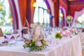 Event table arrangements Royalty Free Stock Photo