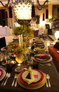 Event tables decoration party dinner stylish and colorful table projected decorated by portuguese designer manuel francisco jorge Royalty Free Stock Photo