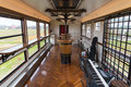 The event venue cabin of tourist train Koshino Shu*Kura. Royalty Free Stock Photo