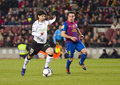 Ever banega in action during the spanish cup match fc barcelona valencia on february in barcelona spain Stock Photos