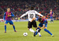 Ever banega in action during the spanish cup match fc barcelona valencia on february barcelona spain Royalty Free Stock Photo