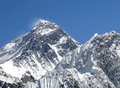 Everest mountain peak sagarmatha nepal highest in the world Royalty Free Stock Photos