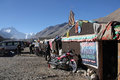 Everest north base camp tibet in at metres is a rudimentary campsite on mount that is used by mountain climbers during their Stock Images