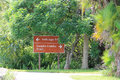 Everglades sign Royalty Free Stock Photo