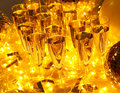 Every celebration party drinks always include champagne follows with and Royalty Free Stock Image