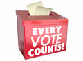 Every Vote Counts Matters Ballot Box