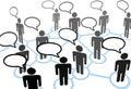 Everybodys talking speech communication network Royalty Free Stock Image