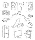 Everyday household appliances  set Stock Photo