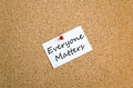 Everyone matters concept Royalty Free Stock Photo