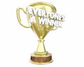 Everyones a Winner Teamwork Prize Award Recognition Royalty Free Stock Photo